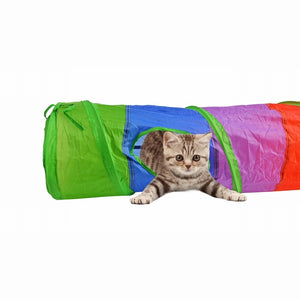 Foldable Cat Tunnel With Ball Toy