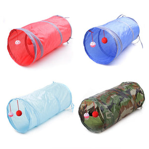 Foldable Pet Tunnel Toys