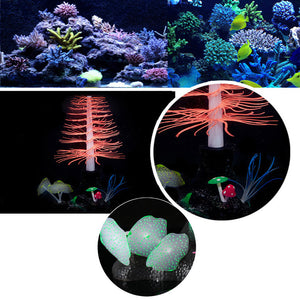 Silicone Coral Underwater Decoration for Tanks