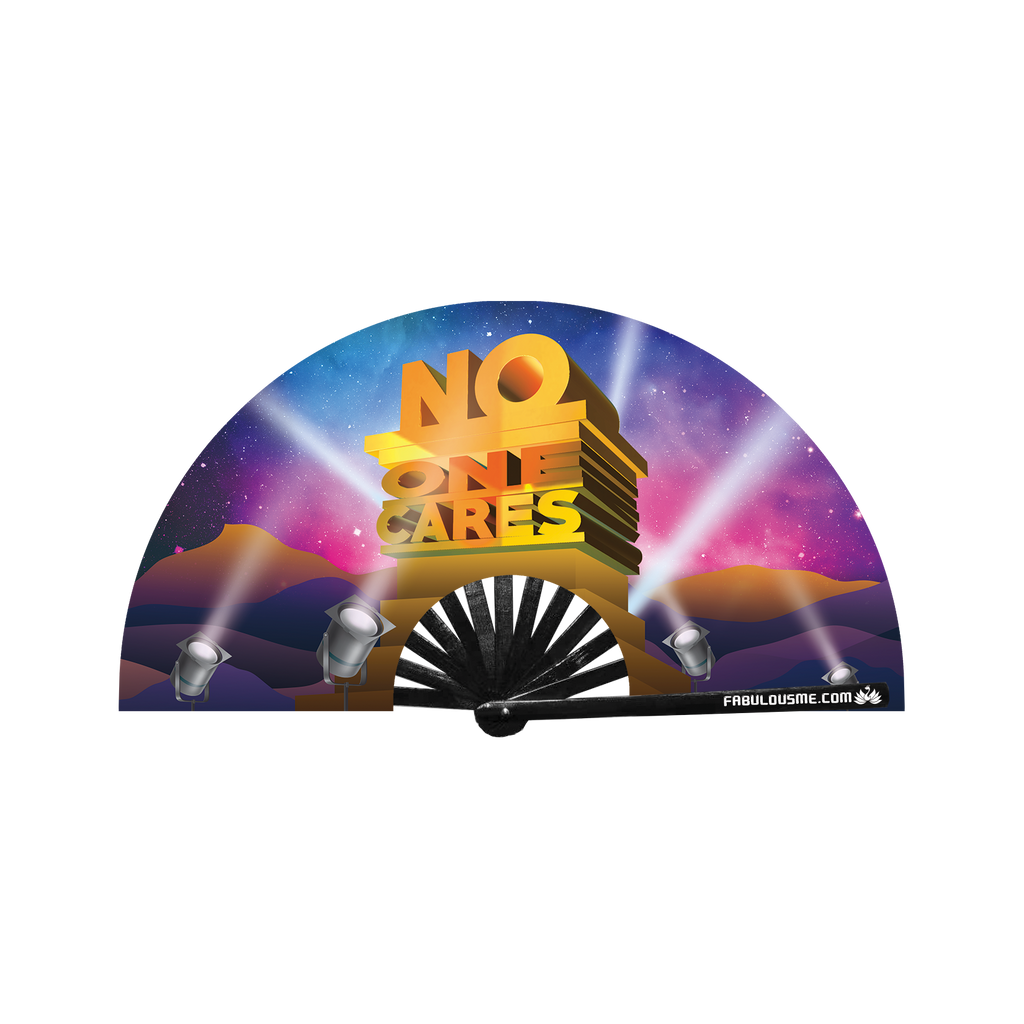 No One Cares FabulousMe Fan, rave, edm, circuit festival, fwap fan, clack fan, hand fan