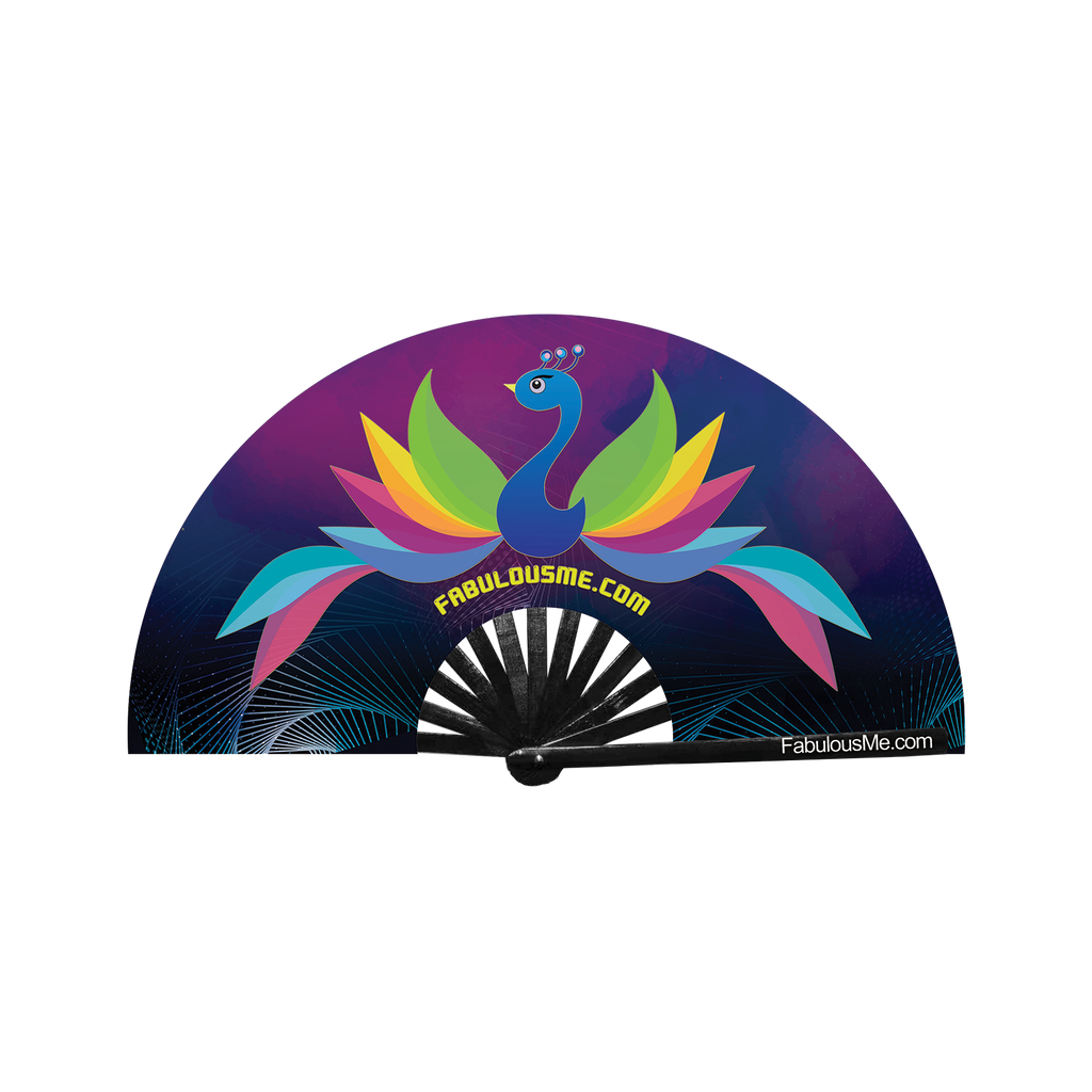 FabulousMe Peacock Logo Fan (UV Glow)