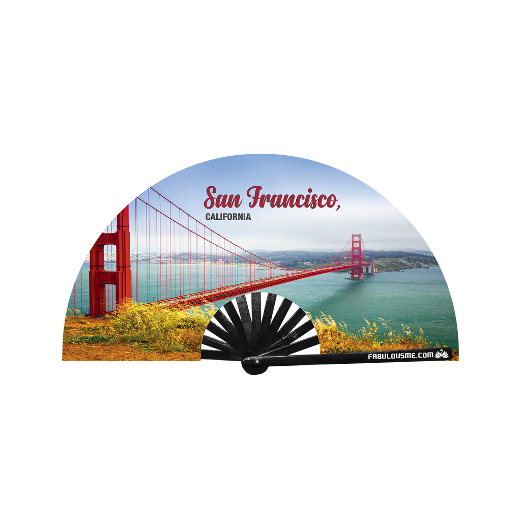 Golden Gate Bridge San Francisco Fan (UV Glow)