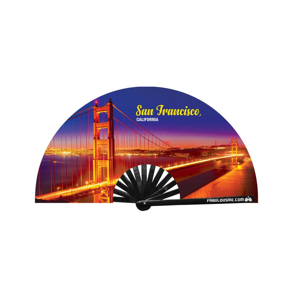 Golden Gate Bridge San Francisco Fan -Night (UV Glow)