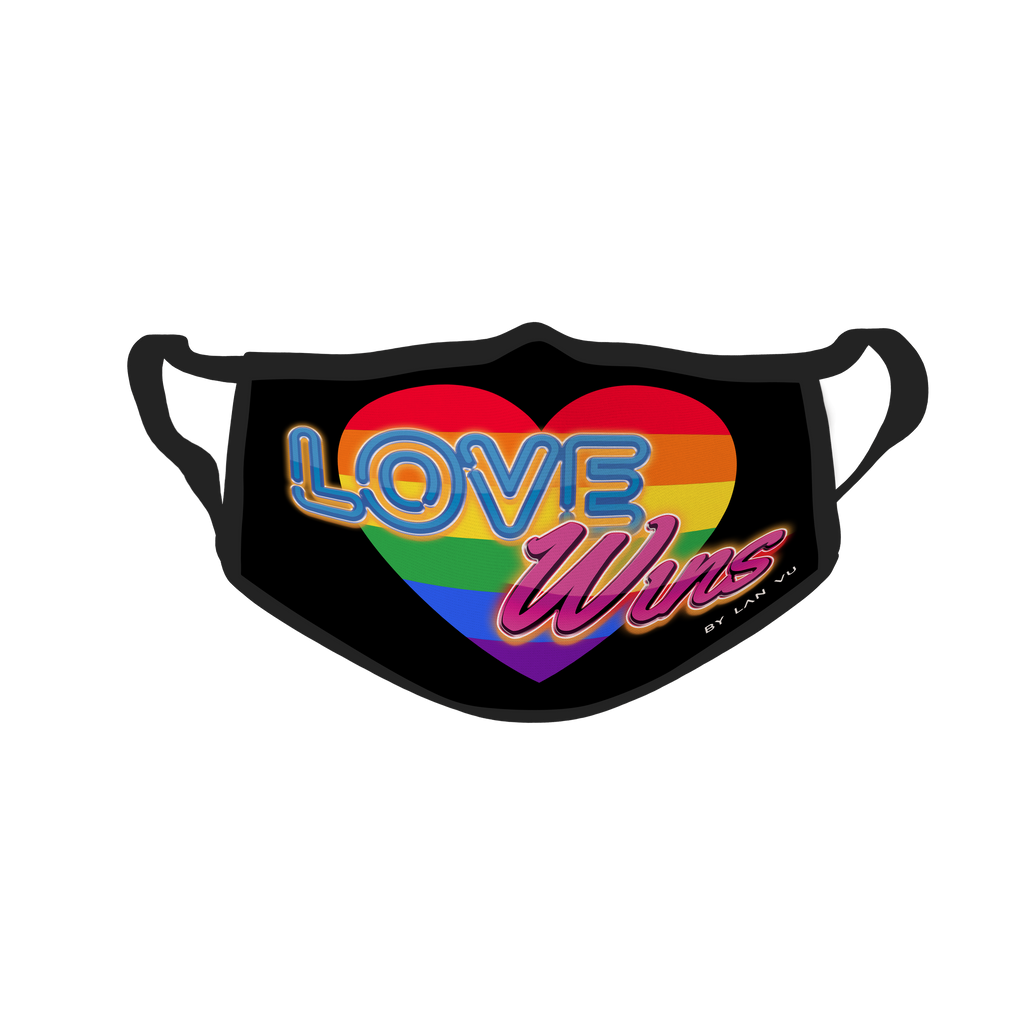 Love Wins UV Glow Face Mask by Lan Vu