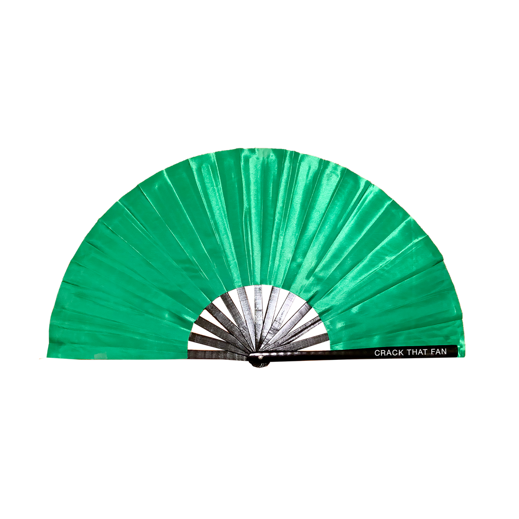 Solid Color Crack Fan (Satin Fabric)