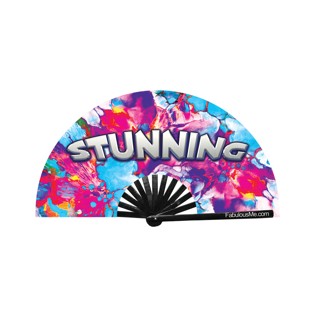Stunning neon circuit party fan (can be used for circuit parties, raves, EDM festivals, parties, music festivals). Made with nylon fabric and bamboo ribs, made by FabulousMe fans.