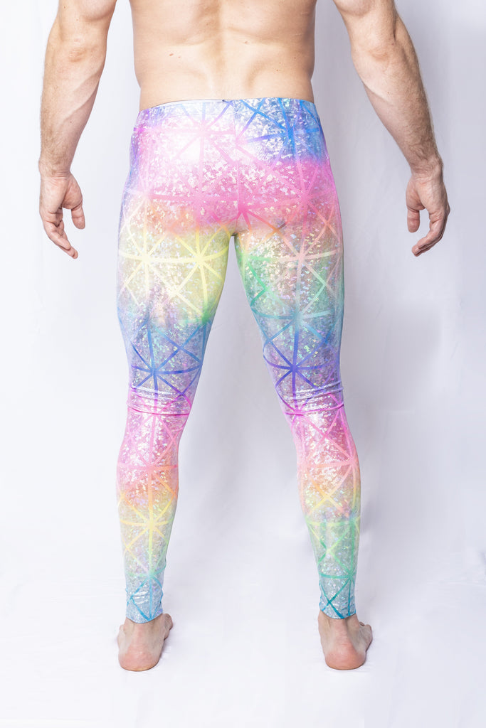 Rainbow Geometric - Men's Leggings - SokoWear