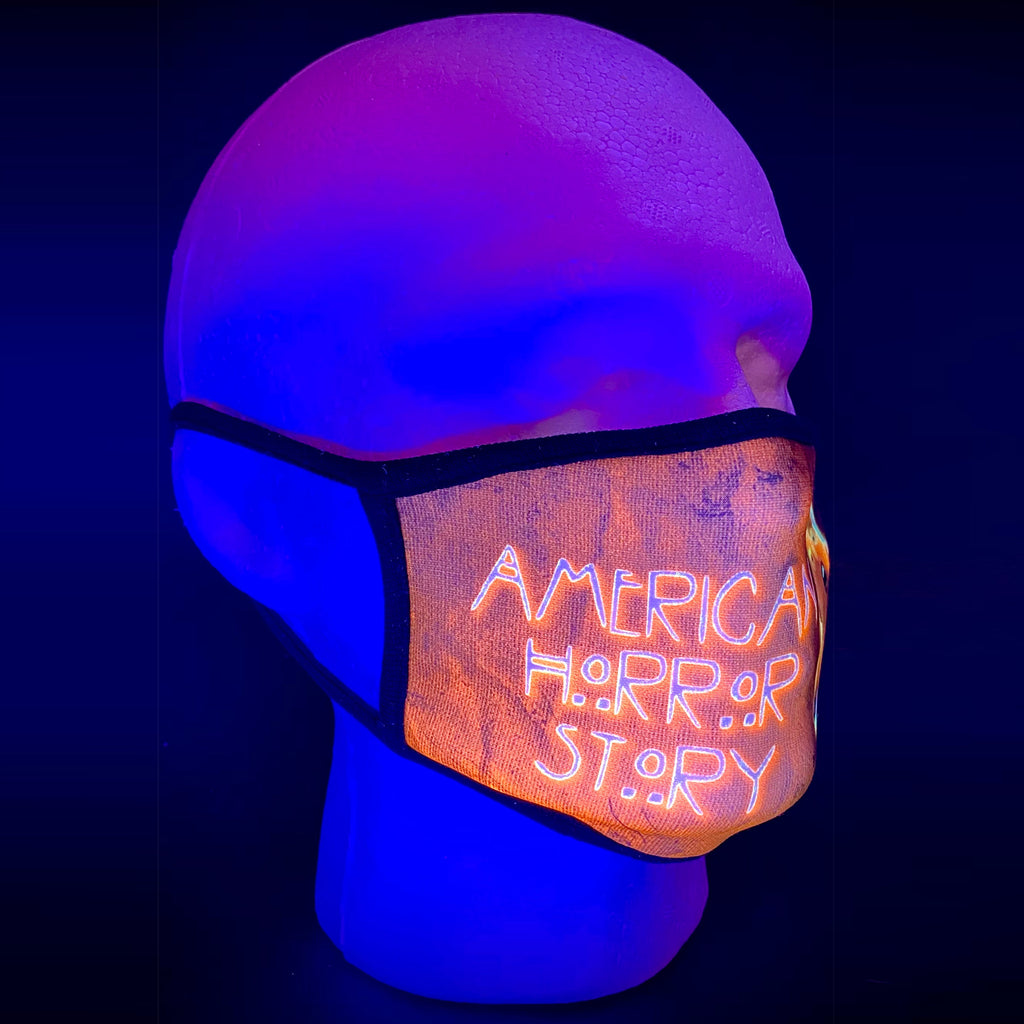 Trump American Horror Story UV Glow Face Mask by Lan Vu