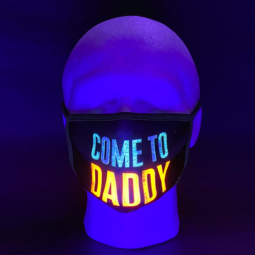Come To Daddy UV Glow Face Mask by Lan Vu
