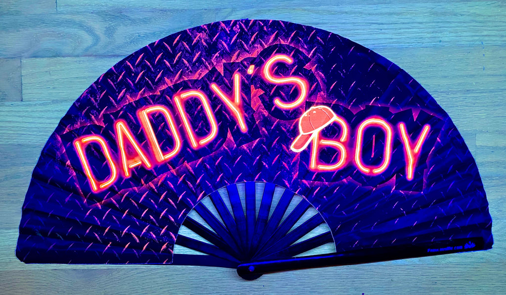 Daddy's Boy Fan (UV Glow)