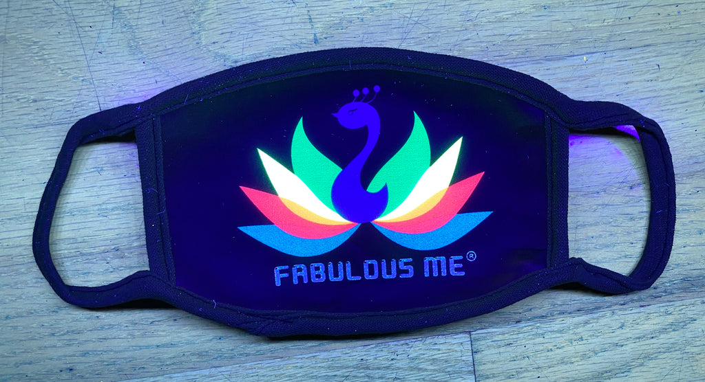 Fabulousme® UV Glow Face Mask
