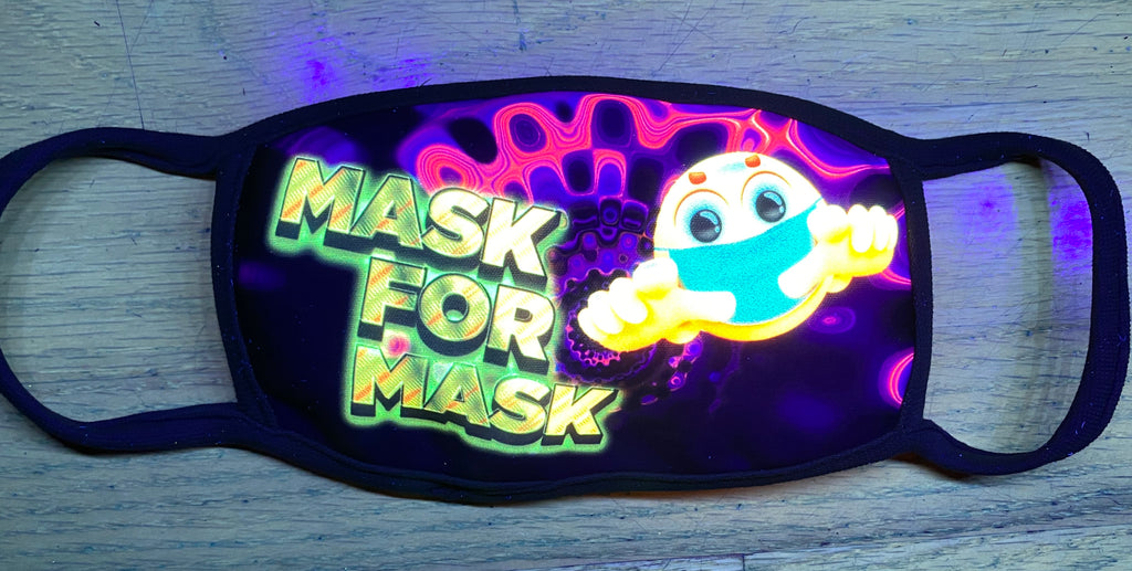 Mask4Mask UV Glow Face Mask by Lan Vu