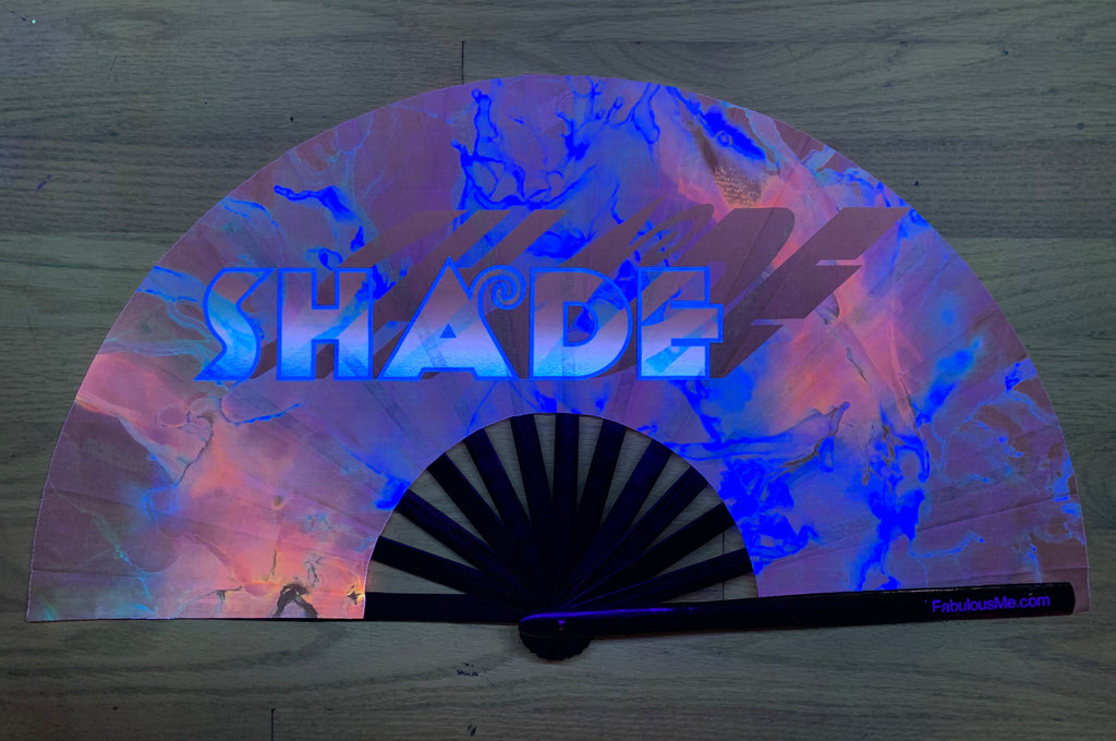 shade circuit party uv glow hand fan by fabulous me, circuit fan, edm fan, rave fan by fabulousme.com , shade fan