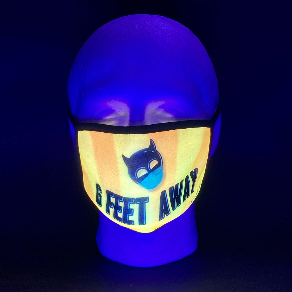 6 Feet Away UV Glow Face Mask by Lan Vu