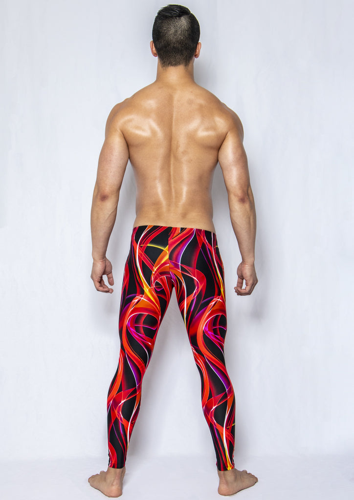 Firestorm - Men's Leggings - SokoWear