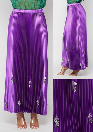 Purple Satin Skirt