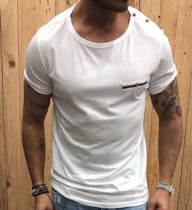 T-shirt Bottoni Tasca