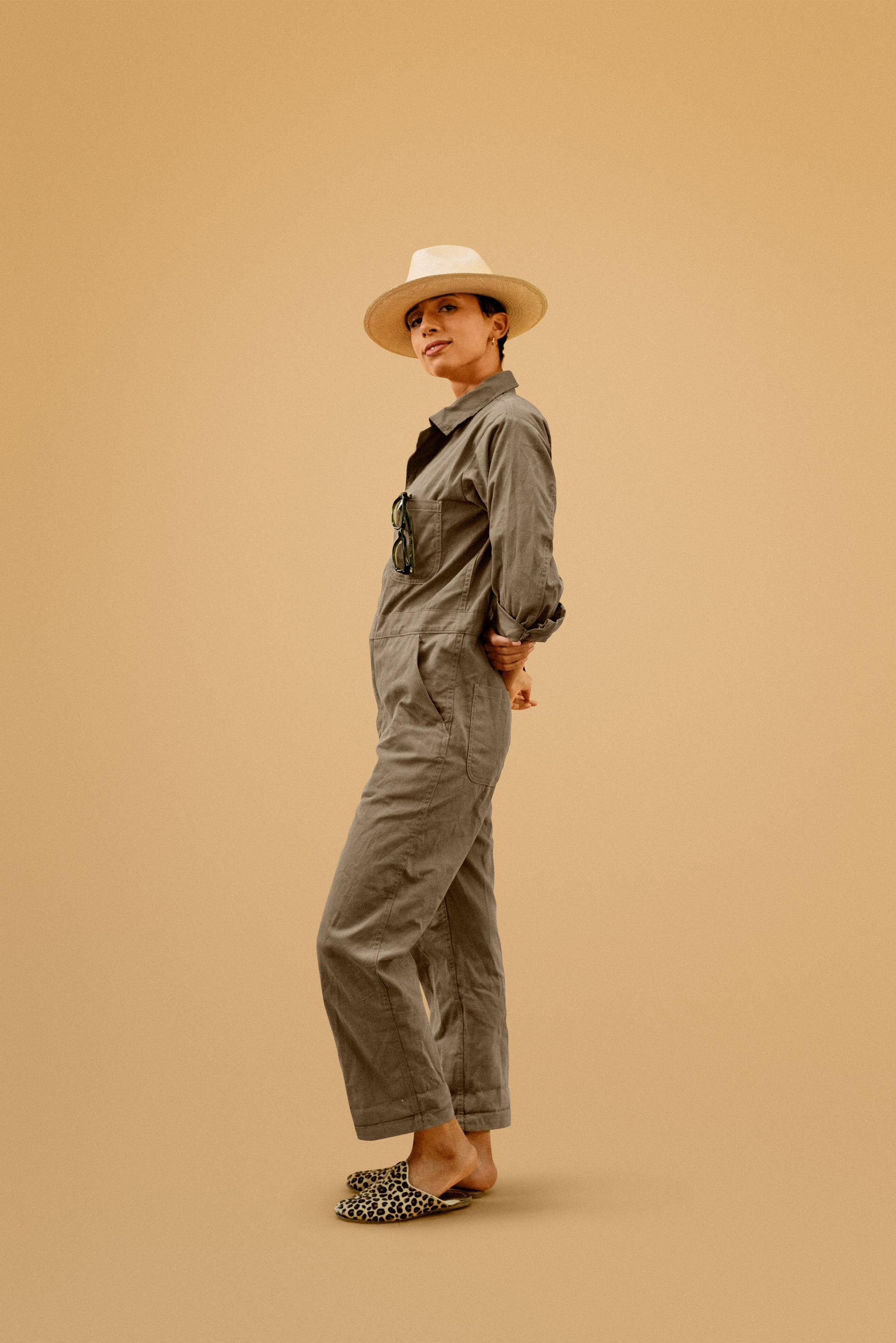 """Beedi Brown"" Jumpsuit"