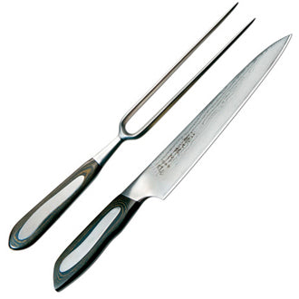 Tojiro Senkou Carving Knife and Fork Set SK-26335