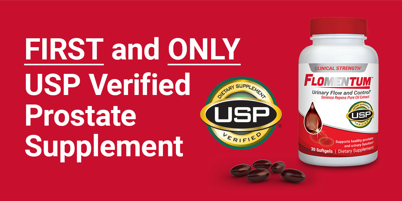 "Flomentum<sup class=""p-text"">®</sup> Launches as the First and Only USP Verified Prostate Supplement"