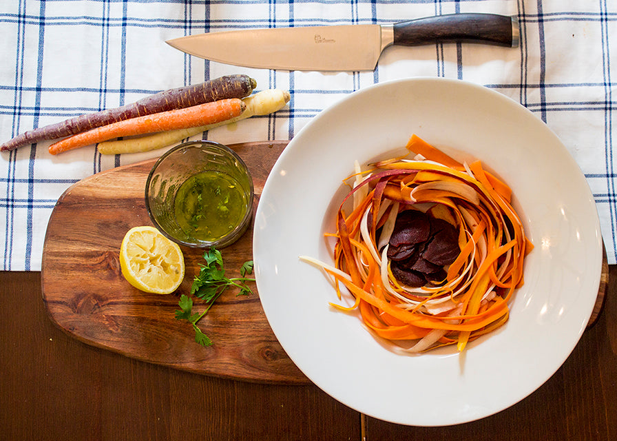 Fall Colors Steamed Carrot and Beet Salad With Lemon Vinaigrette