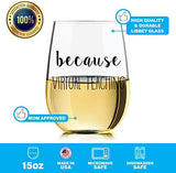 Virtual Teaching Wine Glass - Funny Wine Glass for Teachers on Zoom, Hangout, Slack, Digitally Presenting and in Need of Wine