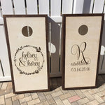 Corn Hole Board Decals | Wedding Decor Rustic | Personalized Wedding | Cornhole Decal