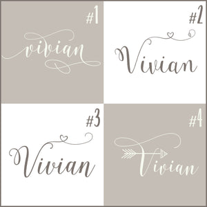 Personalized Name Decal for Baby Nursery Walls