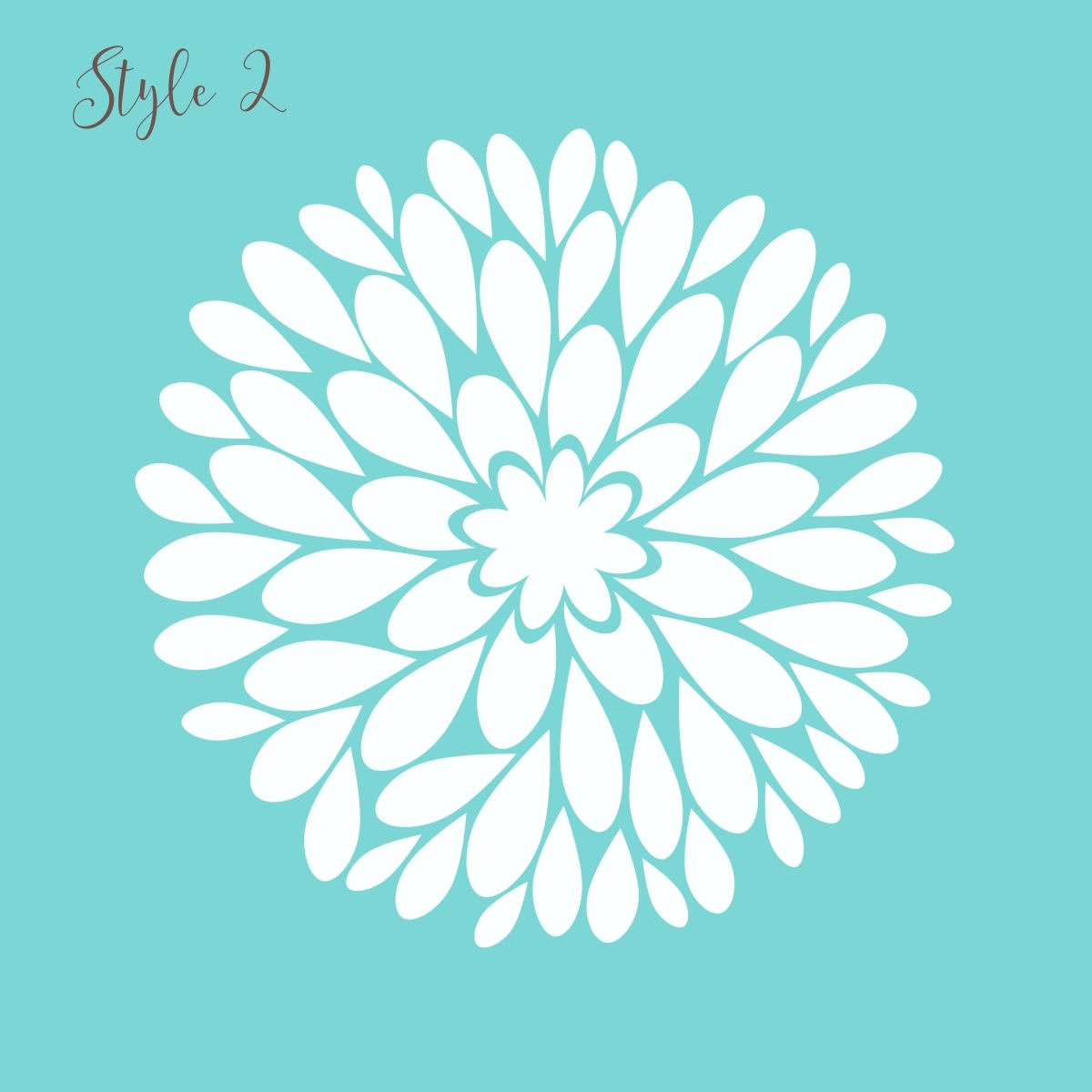 Single Dahlia Flower Vinyl Decal | Big Dahlia Flower Wall Decal