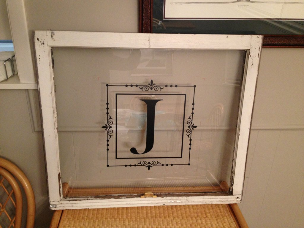Classic Monogram in Decorative Frame Vinyl Decal