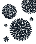 The Original Dahlia Flower Vinyl Wall Decal | Flower Decal