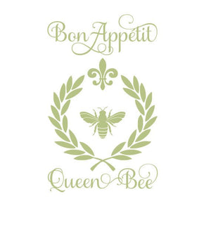 French by Design Vinyl Wall Decals | Laurel Wreath | Bon Appetit | Queen Bee | Italian Life is Beautiful Quote