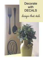 Fork & Spoon Silverware Kitchen Vinyl Wall Decal