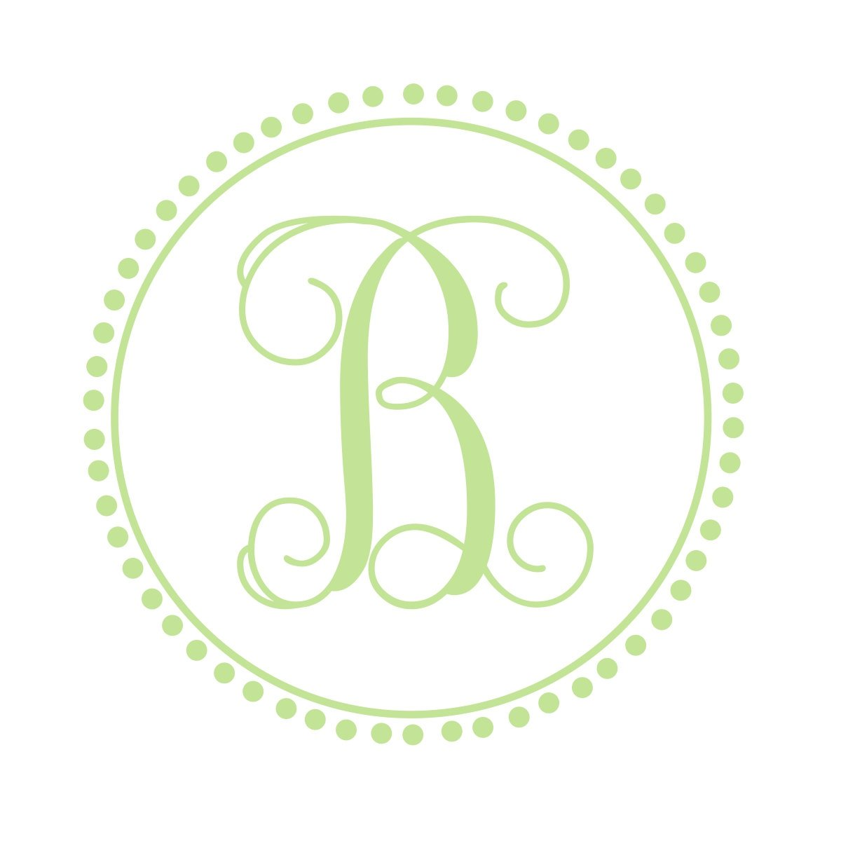 Preppy Monogram | Vine Font Single Initial Monogram Decal | Nursery Decor | Dorm Decor | Sorority Decor