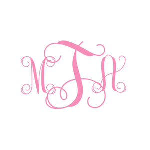 Vine Monogram Wall Decal | Nursery Monogram | Personalized Nursery Decor | Teen Decor | Dorm Decor