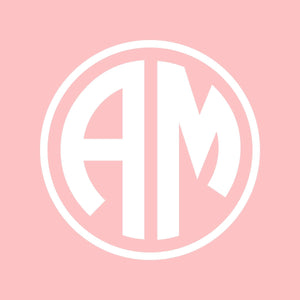 Two Letter Monogram Wall Decals for Girls | Circle Monogram | Dorm Decal
