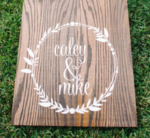 Wedding Cornhole Decals | Rustic Wedding Decor | Personalized Wedding Wreath | Best Day Ever Wedding Date Vinyl Decals for Corn hole Game