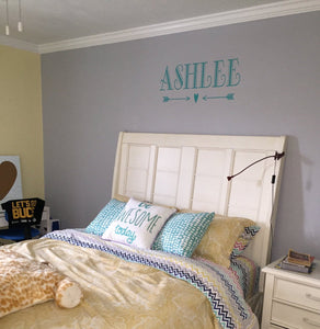 Alphabet Letter Decals | Personalized Name with Arrow Vinyl Wall Decal