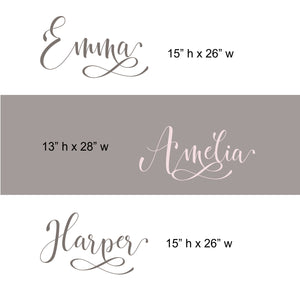 Girls Nursery Wall Decal | Name Wall Decal | Personalized Name Decor