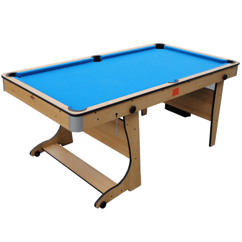 BCE 3-in-1 Folding Pool Table with Table Tennis Top 6ft Vertical