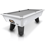 Geordie Pool Cry Wolf Outdoor Slate Bed Pool Table 6ft, 7ft Gloss White