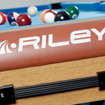 "Riley Rolling/Lay Flat Folding Pool Table 6ft ""W"" Leg"