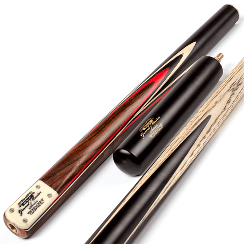 BCE Grand Master 3/4 Snooker Cue - Sapele Mahogany Butt 9.5mm Tip 145cm - Black/Red/Natural