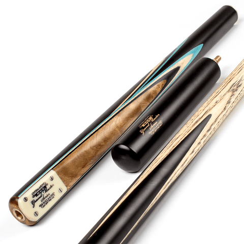 BCE Grand Master 3/4 Snooker Cue - Sapele Mahogany Butt 9.5mm Tip 145cm - Black/Blue/Natural
