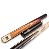 BCE Grand Master 3/4 Snooker Cue - Sapele Mahogany Butt 9.5mm Tip 145cm - Black/Natural/Red
