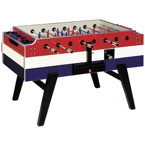 Garlando Red, White and Blue Coin-Operated Football Table