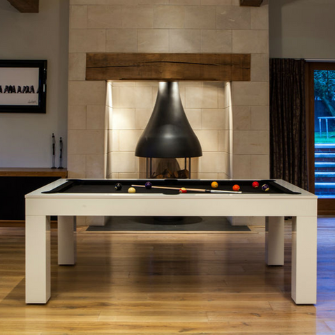 Duo Milano Pool Dining Table 10+ Seater Gloss White