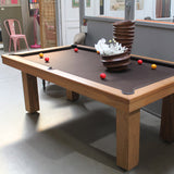 Billard Toulet Outdoor Teck Snooker Table 3/4 Slate