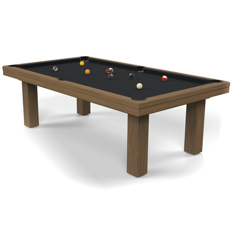 Billard Toulet Outdoor Teck American Pool Table 9ft Slate