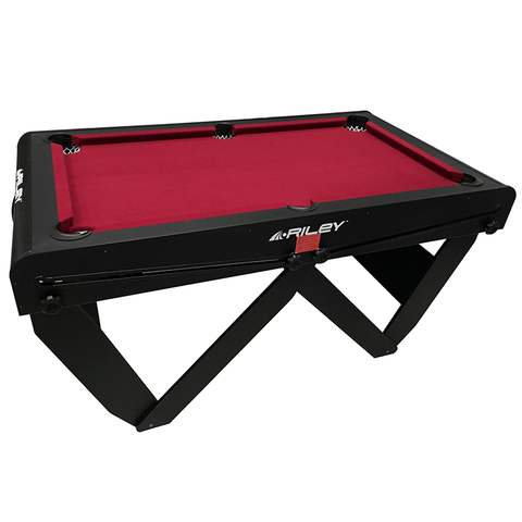 "Riley Rolling/Lay Flat Folding Pool Table 5ft ""W"" Leg"